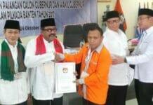 Pilgub Banten Tetapkan Dua Pasangan Calon