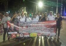 Berbagai Elemen Masyarakat Rayakan HUT Jokowi Di Sebrang Istana Merdeka